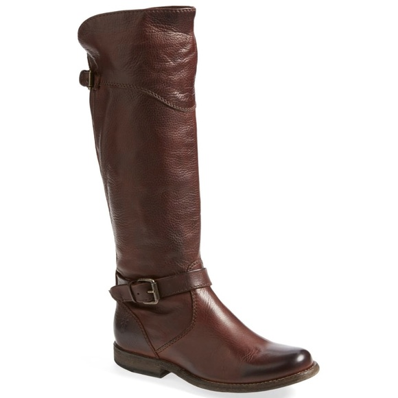Frye Phillip Extended Calf Riding Boot | Cognac